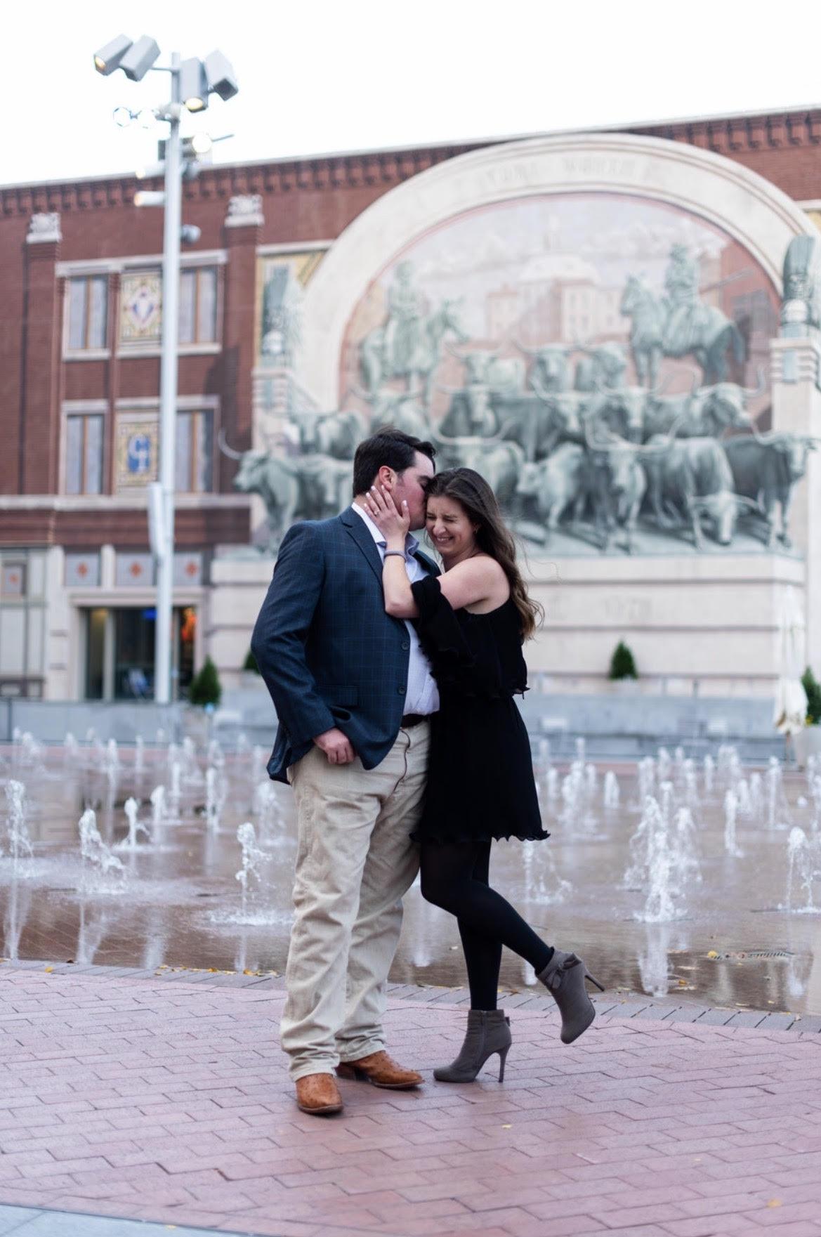sundance square fort worth wedding proposal