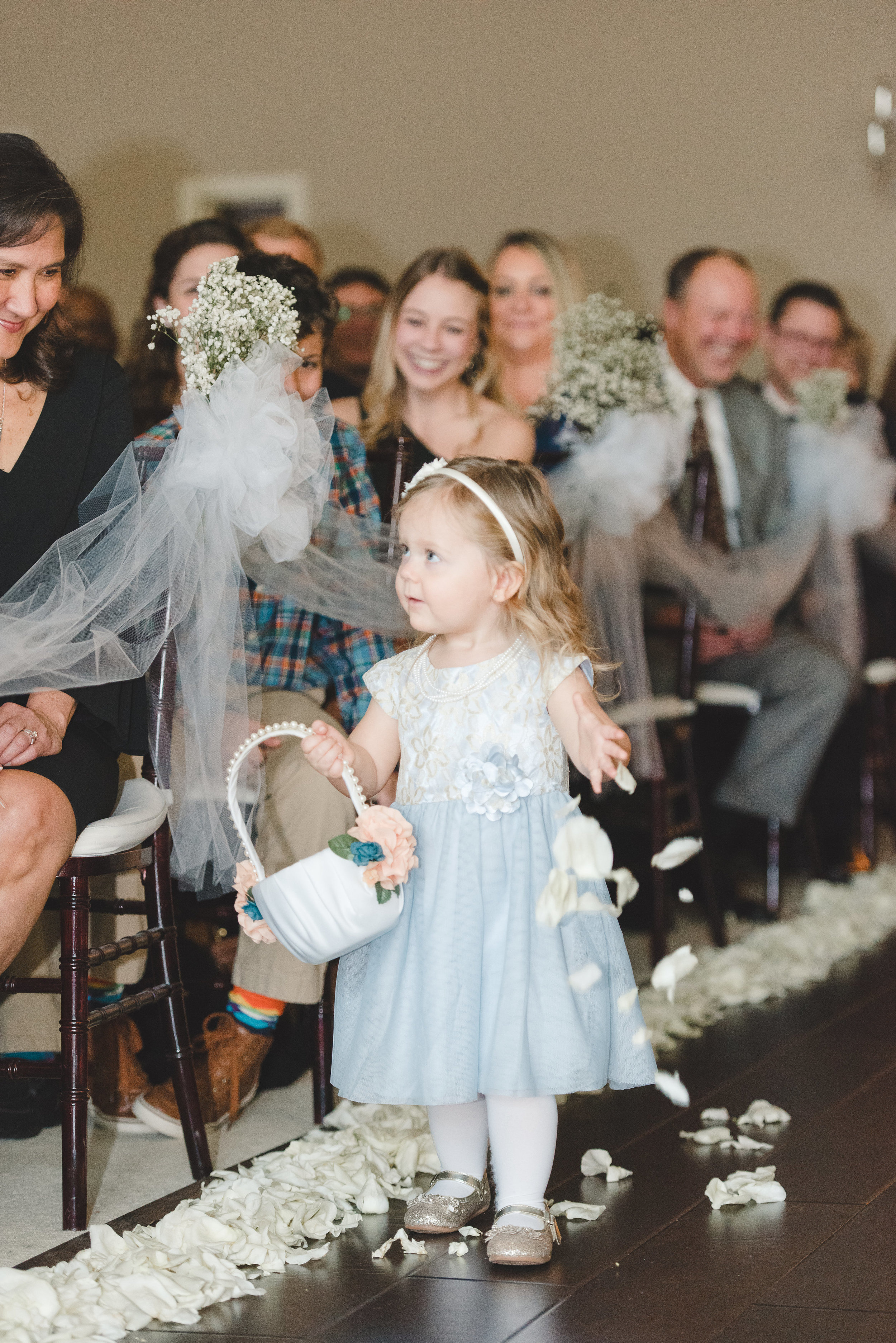 flower girl wedding ceremony
