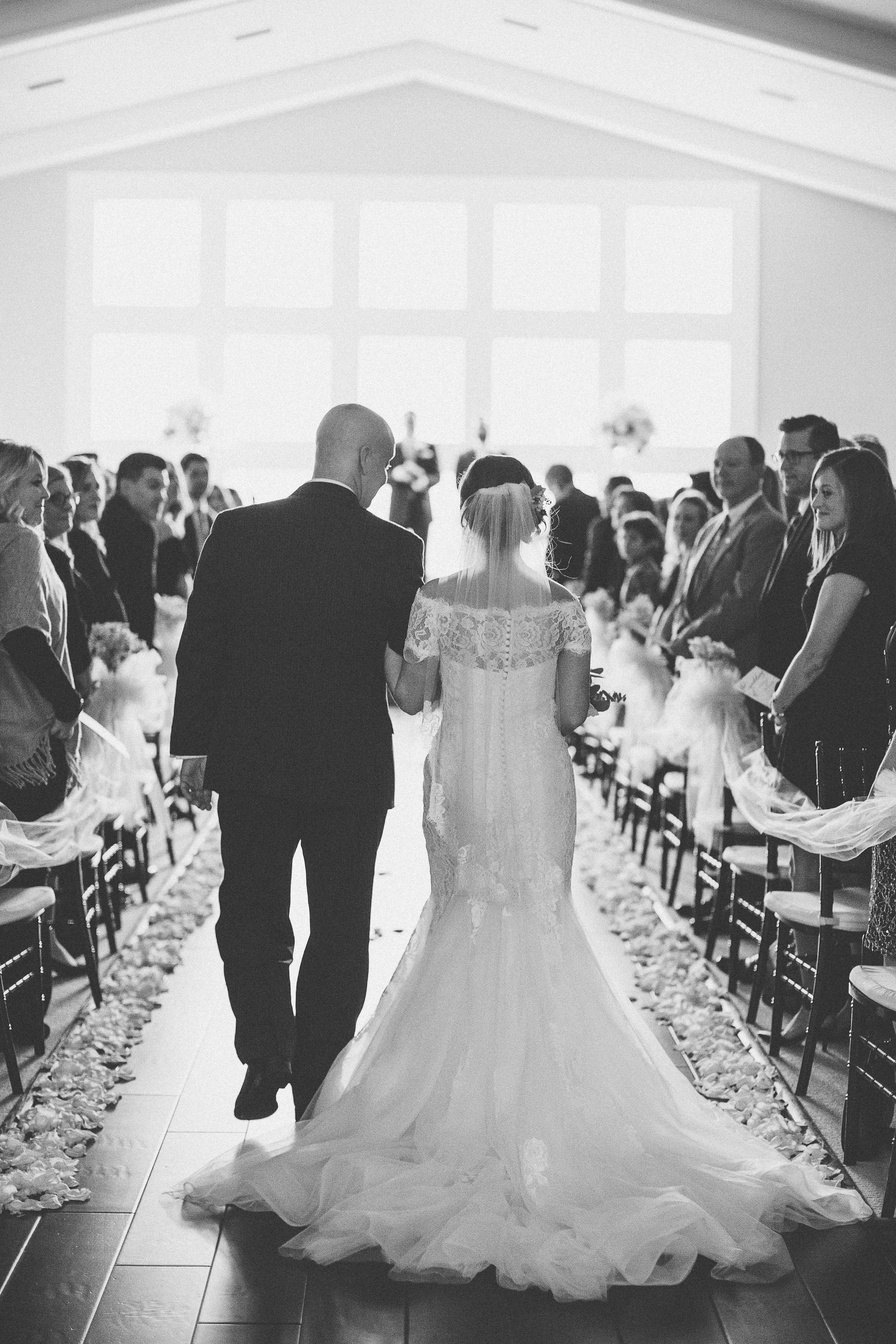white wedding ceremony inspiration