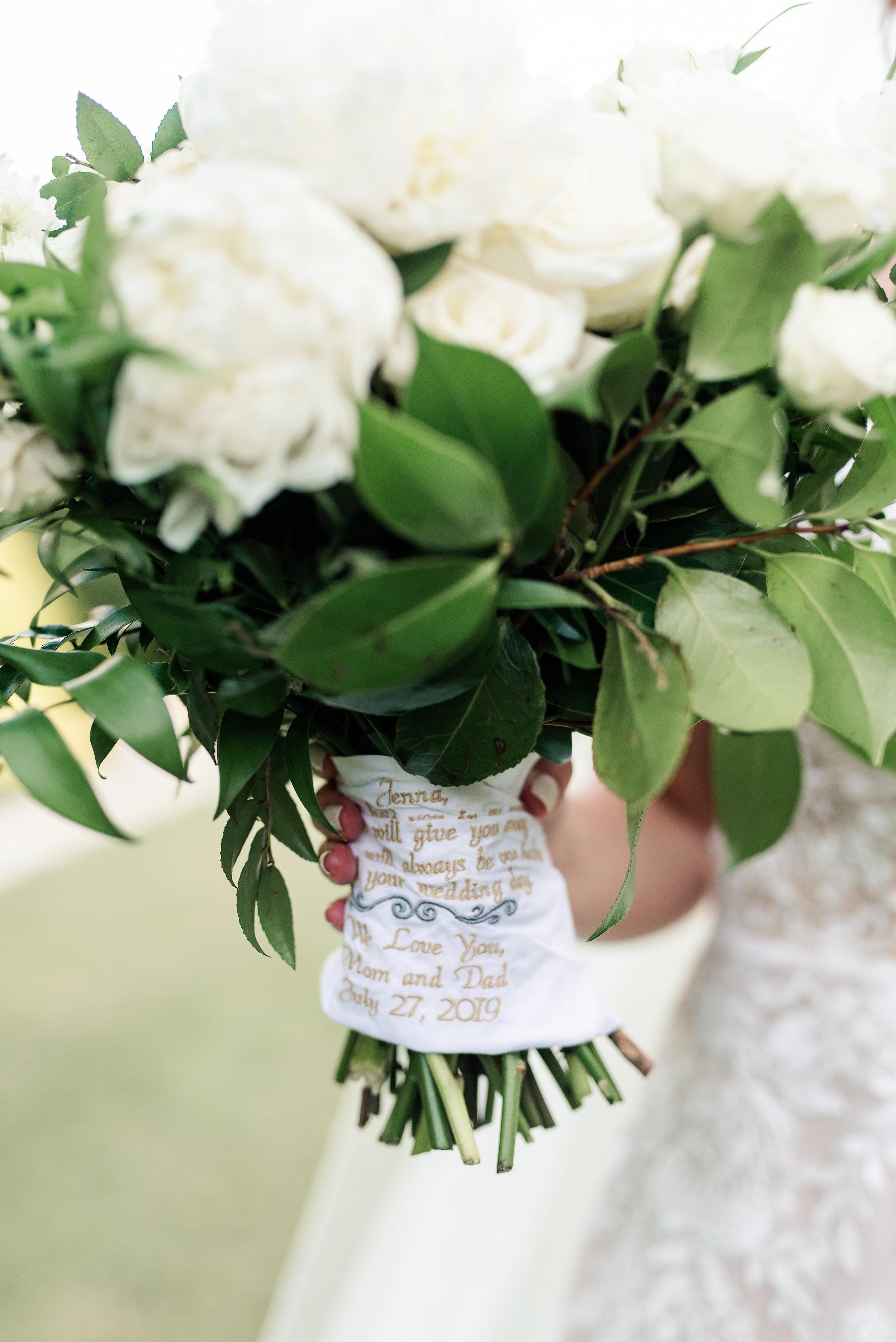 heirloom handkerchief bouquet wrap