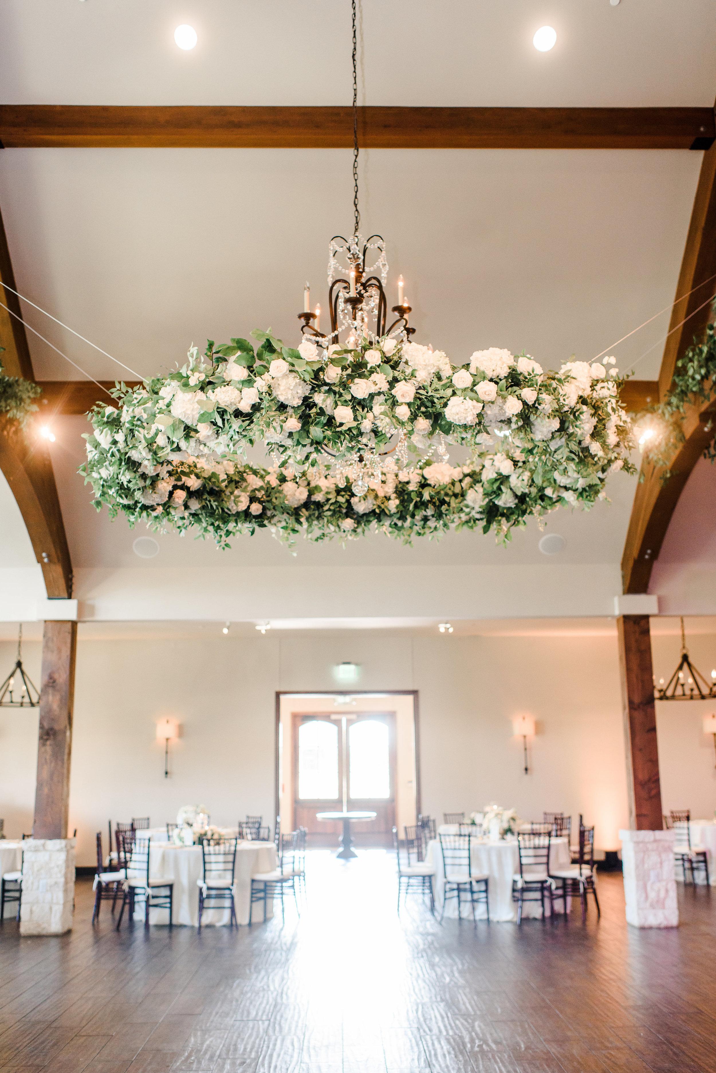wedding floral halo