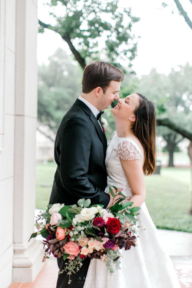 fort worth fall wedding bride and groom