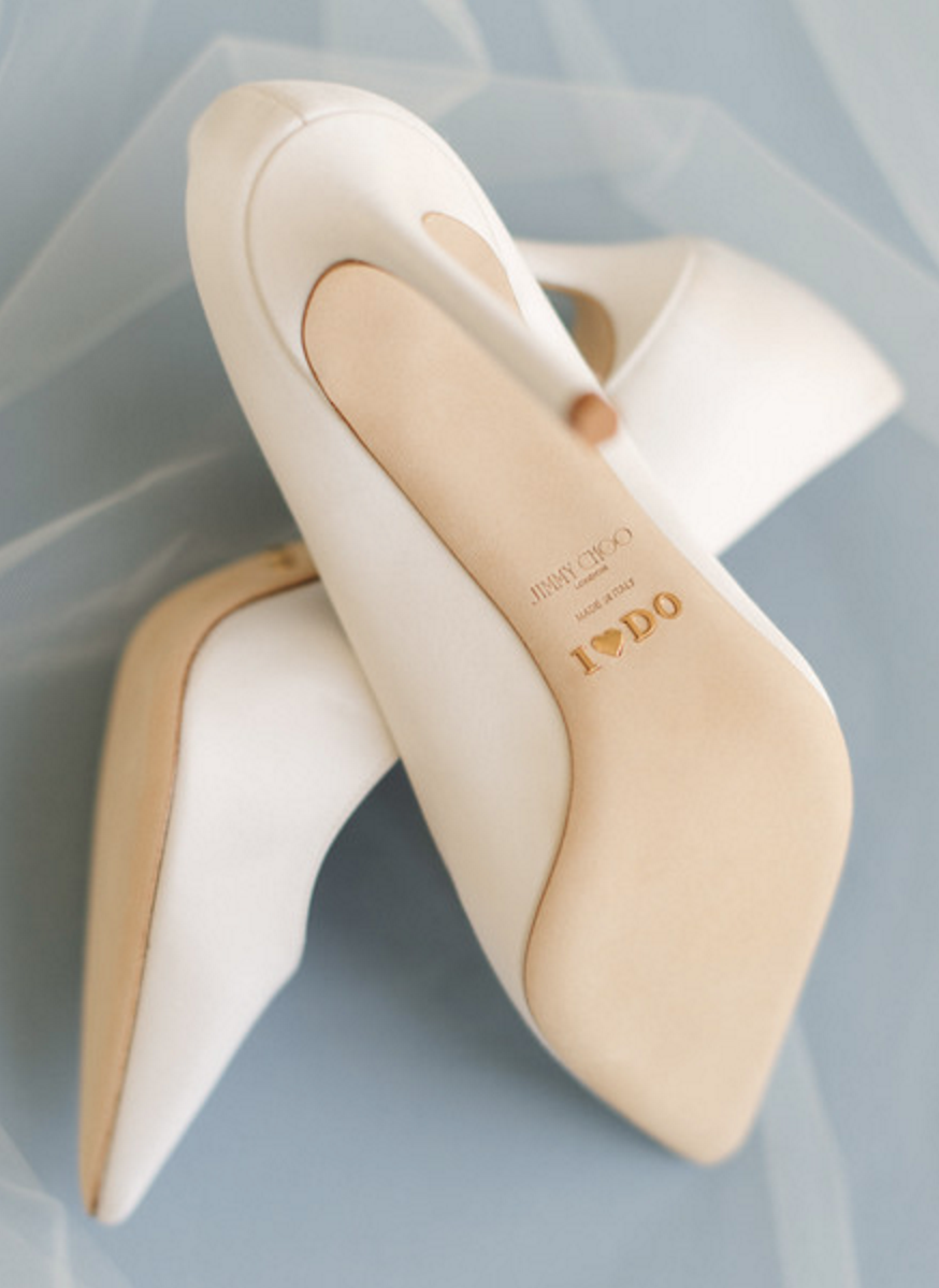jimmy choo gold plated wedding shoes