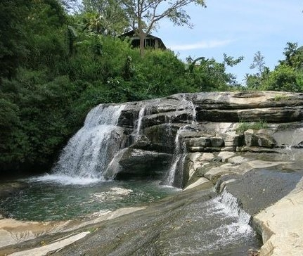 Waterfall within a short walking distance of Amba Estate.