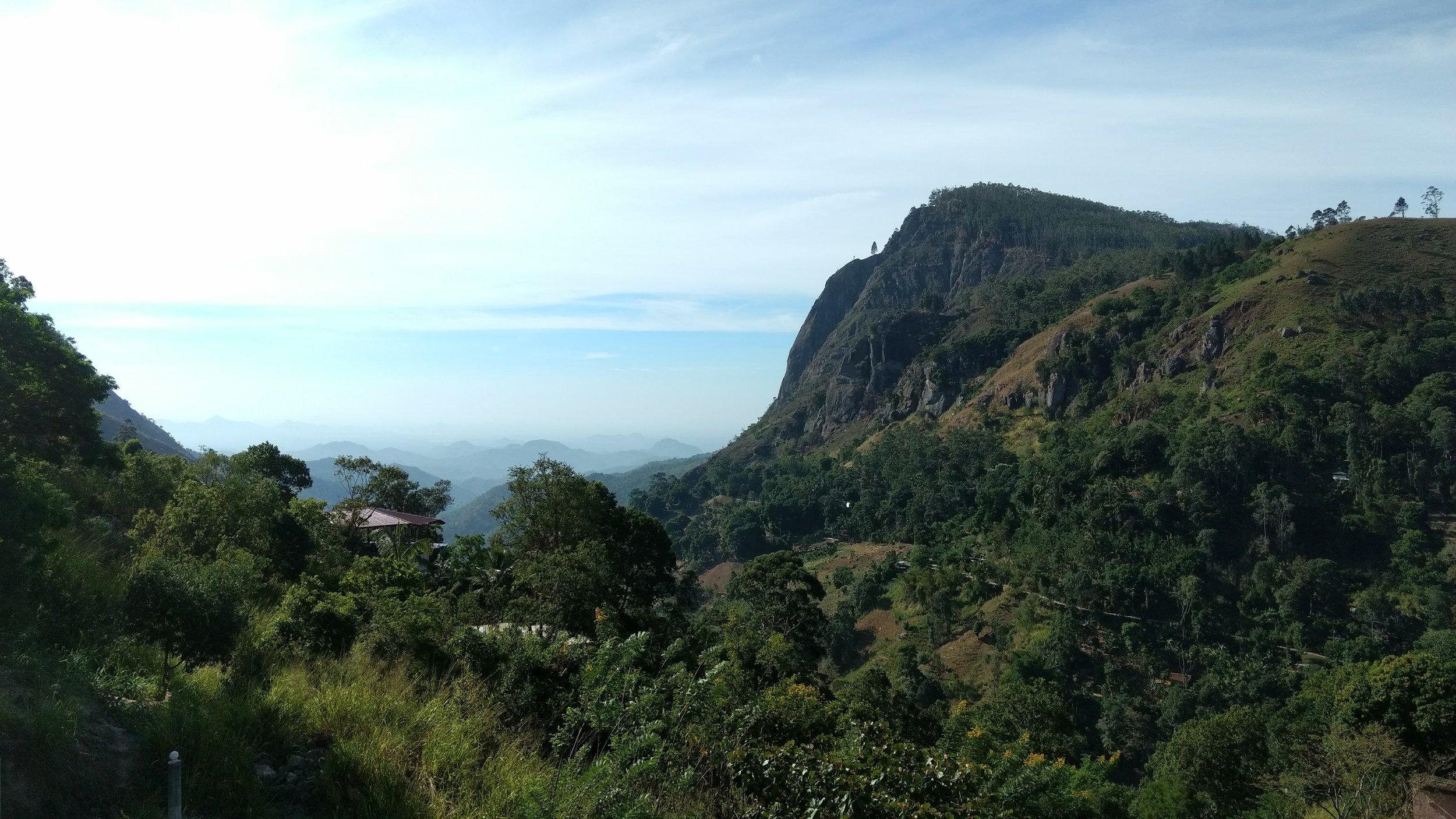 Ella Rock in Ella, Sri Lanka.