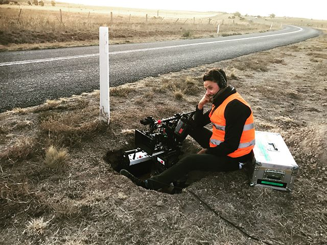 DPs are alchemists. Pouring light through glass to make magic happen. Nevertheless, they sometimes have to sit in a hole and wait like the rest of us. . . . @joshflavelldp ,one of our favourite and continual collaborators, yesterday in Victorian Flatlands. . #filmreaktorglobal