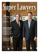 Super Lawyers Magazine Cover featuring Badham & Buck