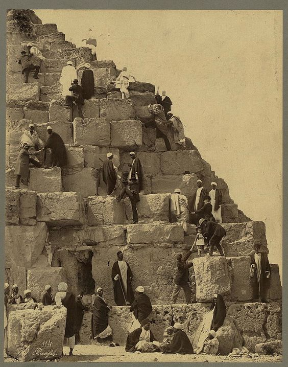 """ the rugged, jagged, steep, and perilous sides of the Great Pyramid"""