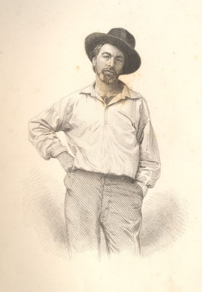 Frontispiece of Whitman from   Leaves of Grass
