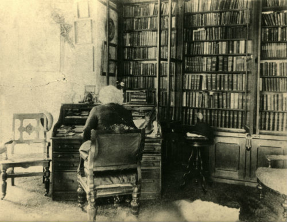 Douglass in his library at Cedar Hill