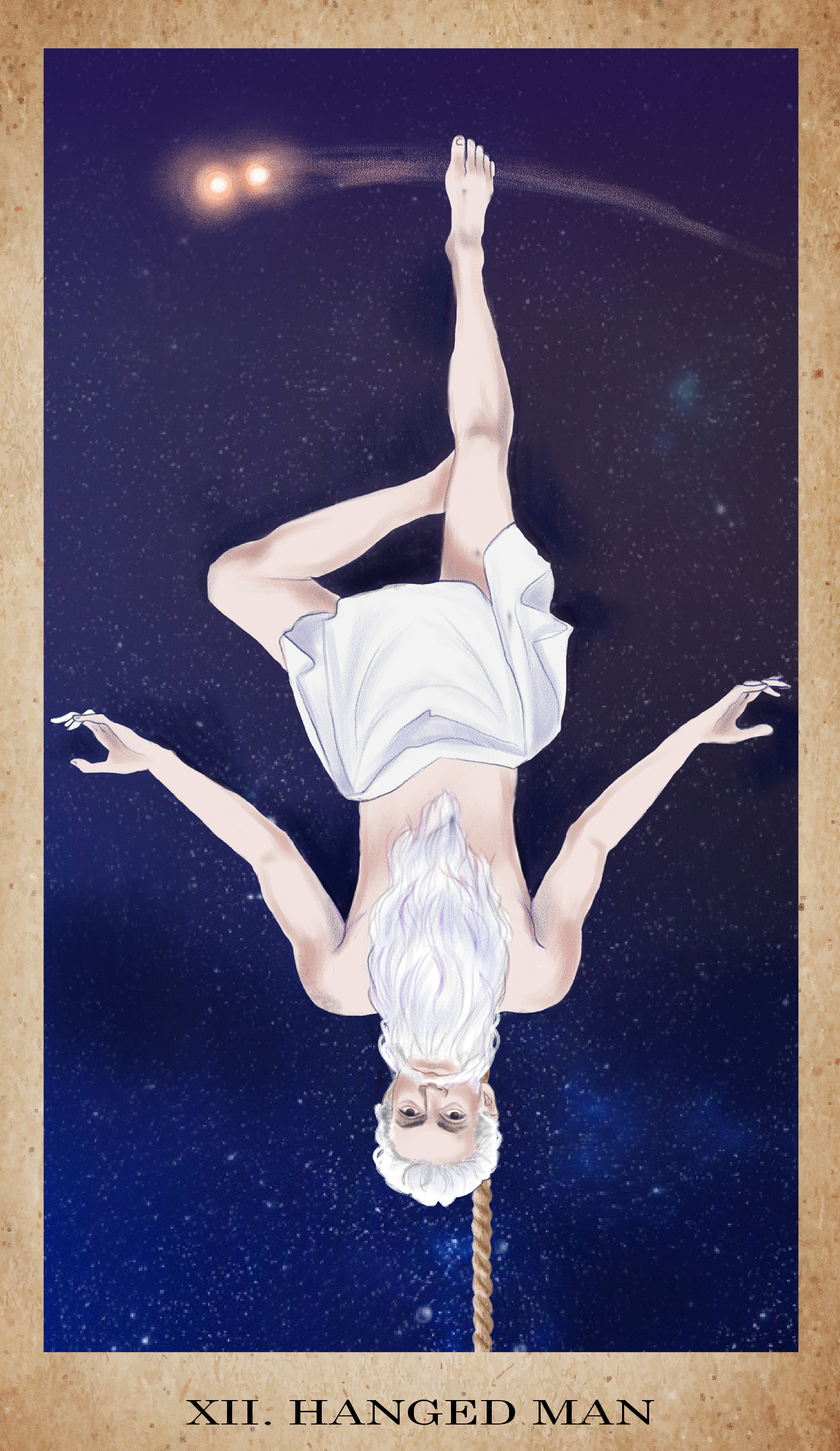 The Hanged Man for  The American Renaissance Tarot