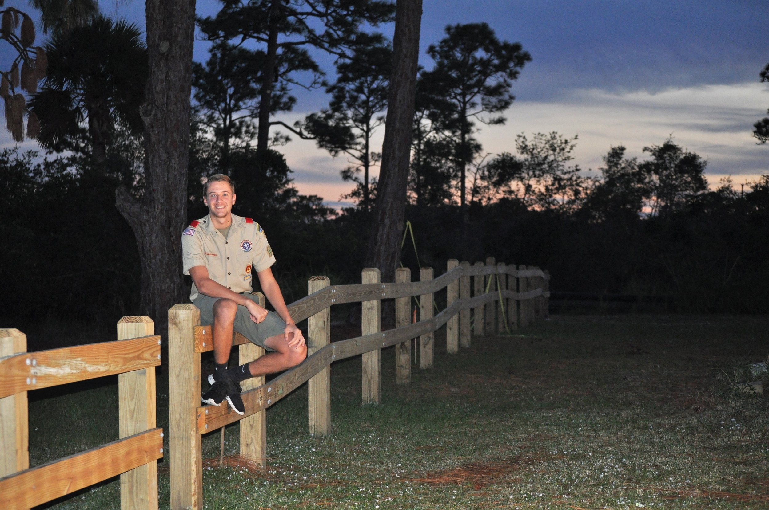Eagle Scout Candidate Tim Flay, at the dawn of his project.