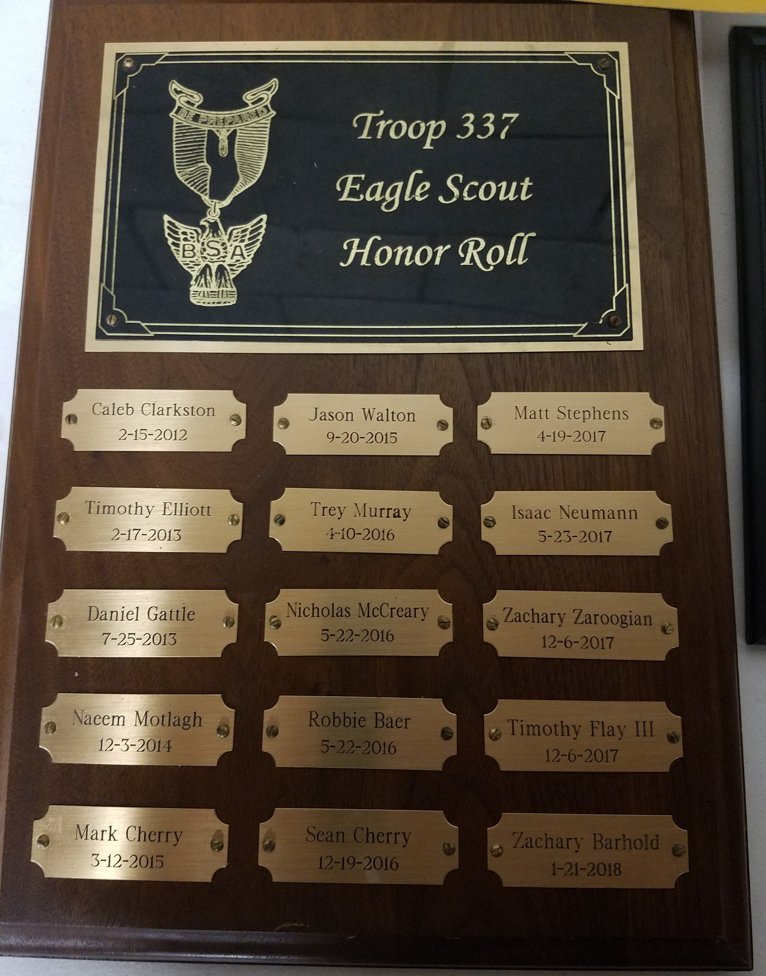 Eagle Honor Roll