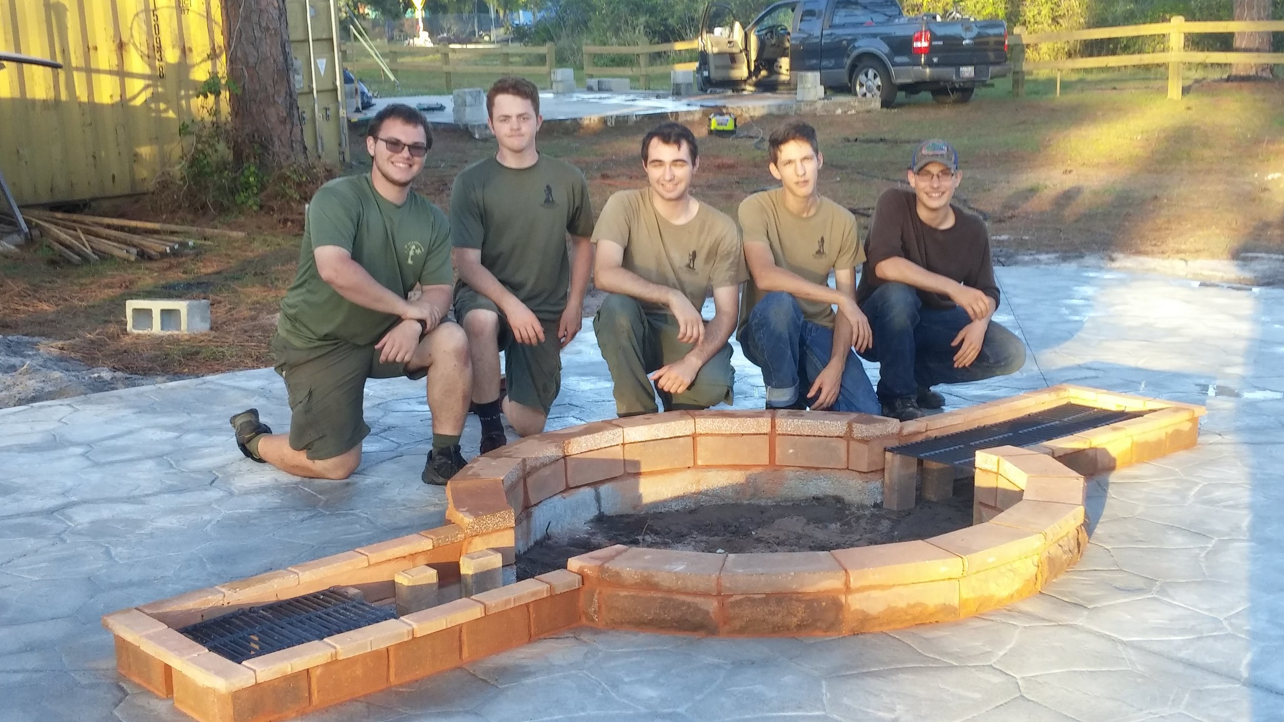 Job well done Zachary, Fellow Scouts & Leaders, Adult & Sibling helpers, and Donors!   The fire pit will be used as a center point for many activities for many groups for many years!