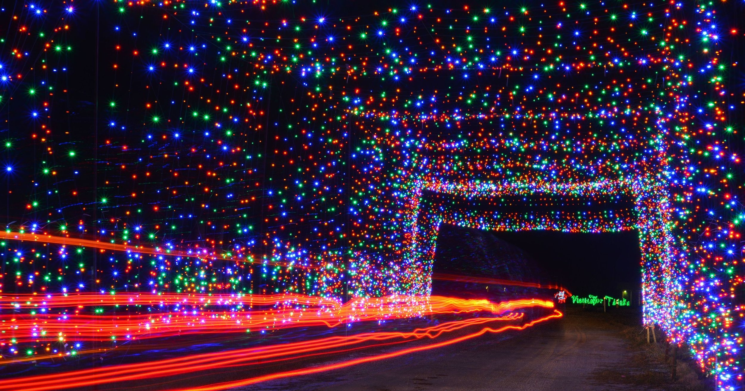 "The climax of your journey will begin as you enter and pass through a 200 foot ""Light Tunnel"" exploding with light."