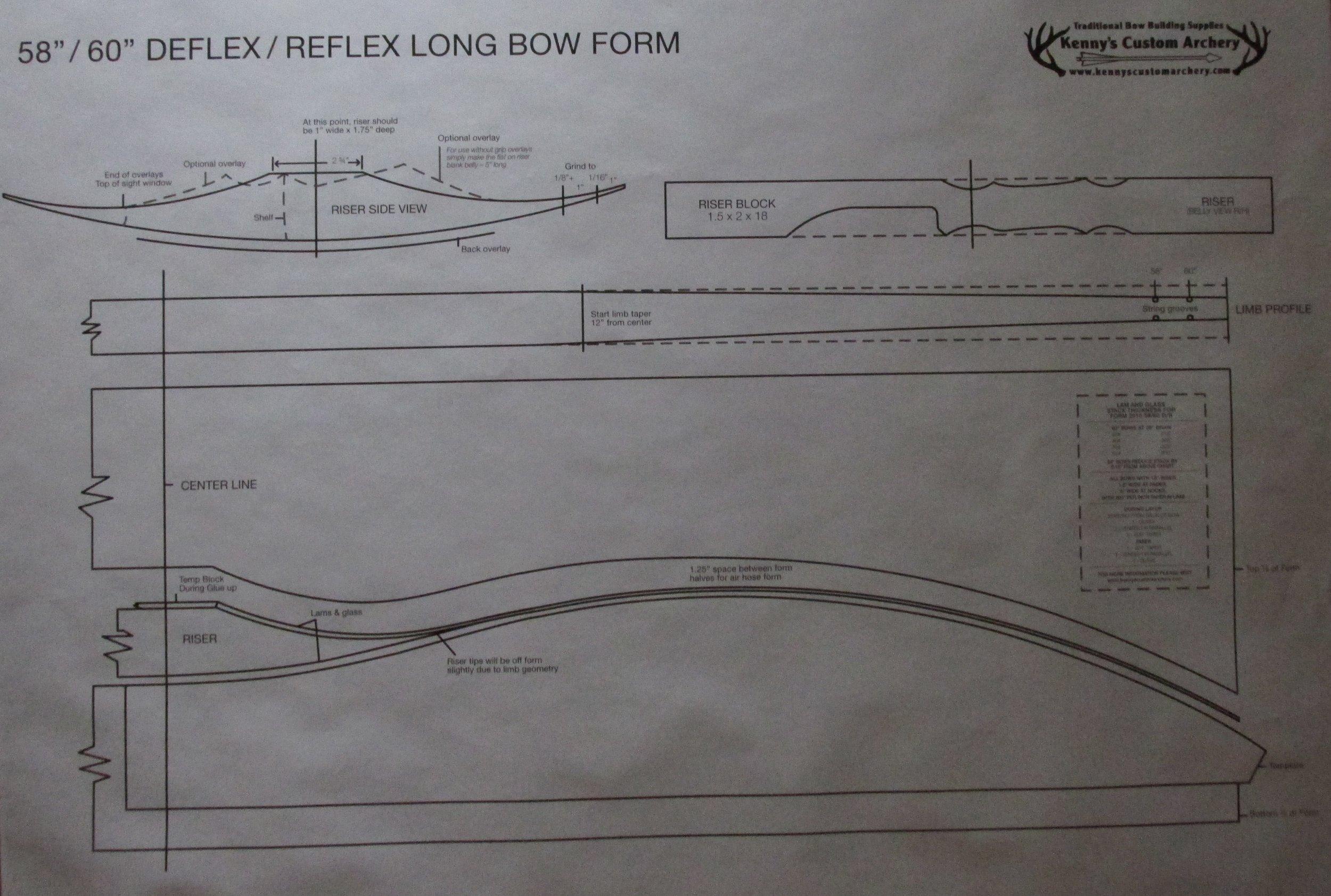 "58""/60"" D/R longbow paper plan  $10.00"