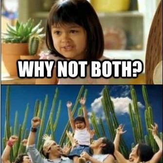 Both sides bicker, until she provides revelation. Courtesy @Memegenerator