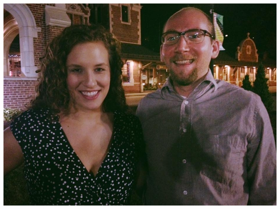Brian and Chelsea after an evening performance at The Supper Club in Greensburg, PA.