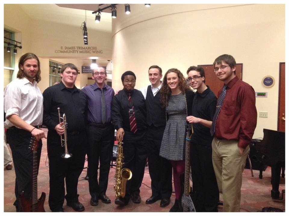 Brian and Chelsea in 2013, as members of the Seton Hill University Jazz Combo.