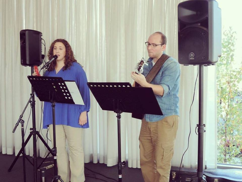 Briar Rose Acoustic Duo performs at The Westmoreland Museum of American Art in fall, 2017.