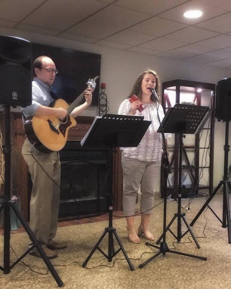 Chelsea and Brian perform in Monroeville, PA.