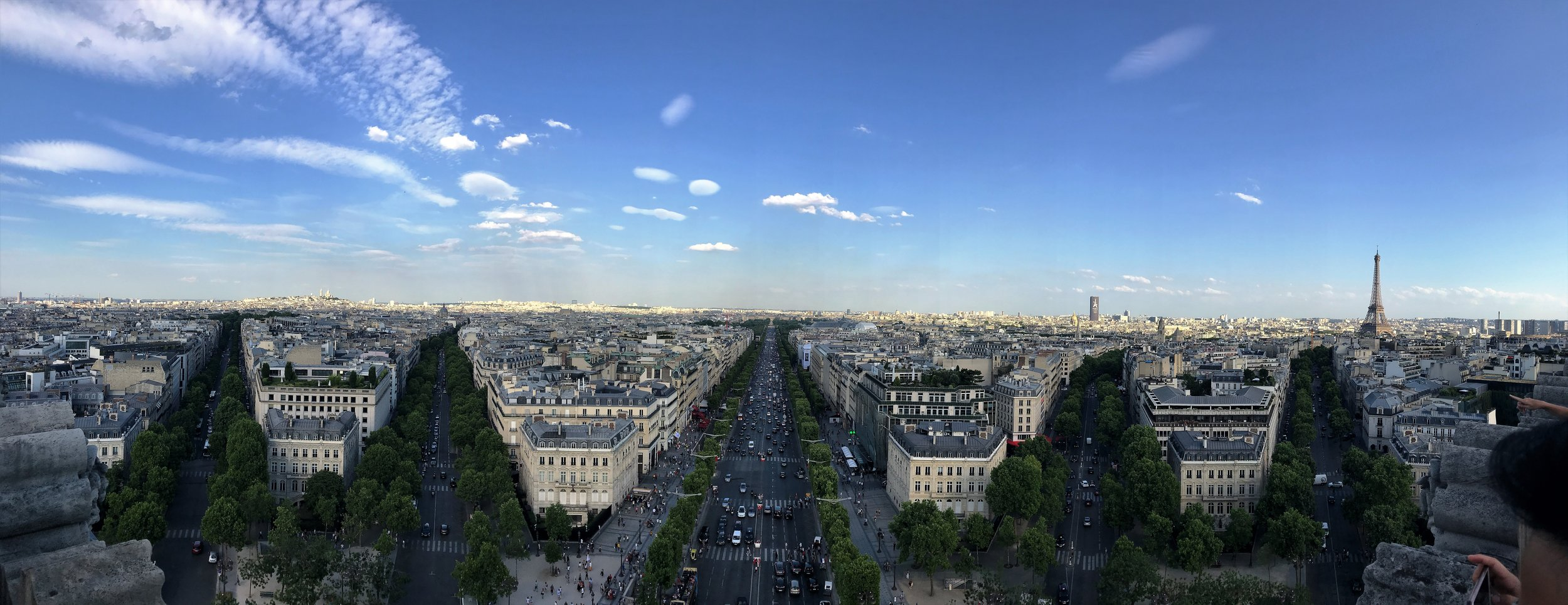 View from atop the Arc De Triomphe