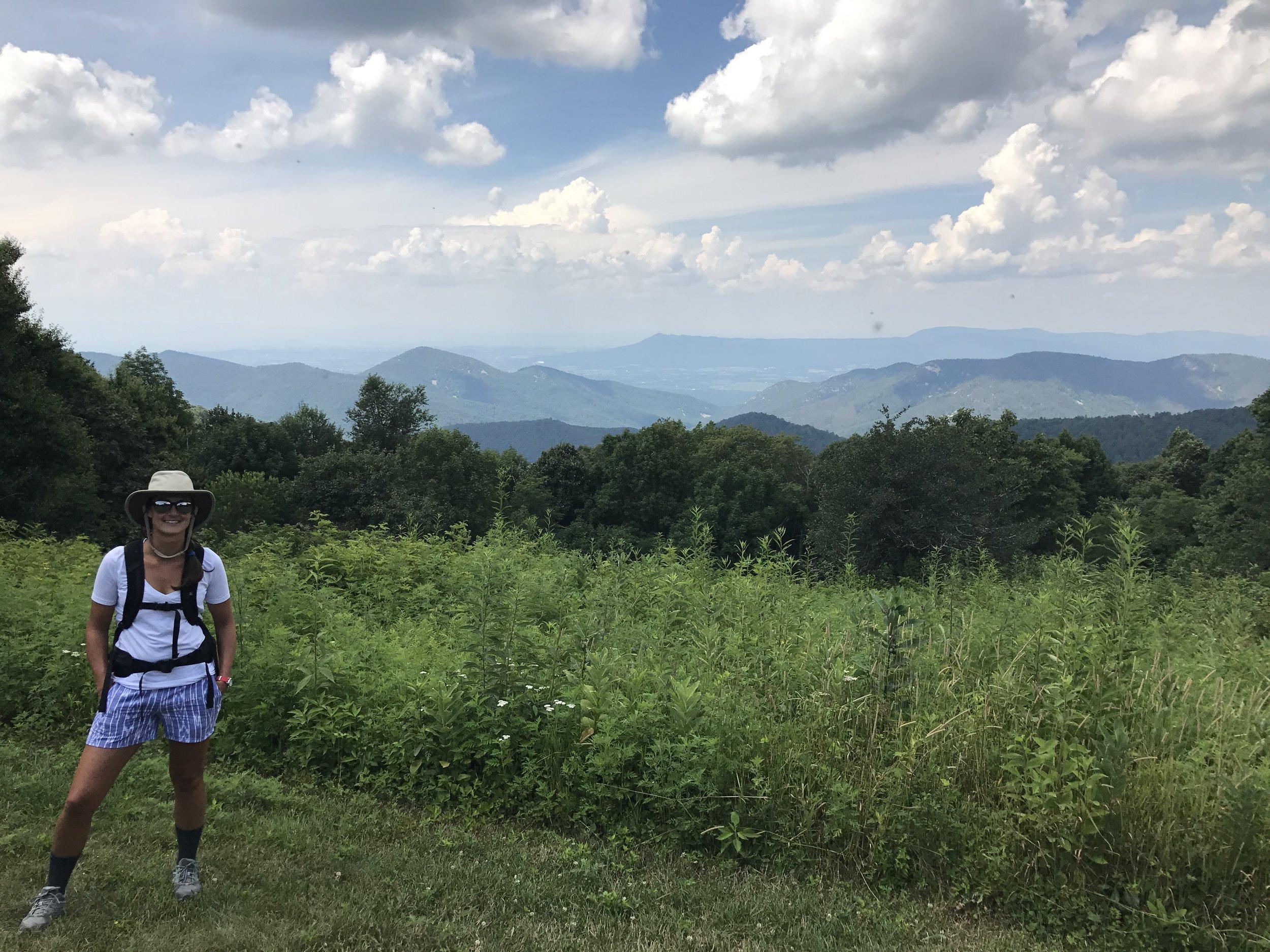 Shenandoah Views (those black spots are gnats flying around...ugh)