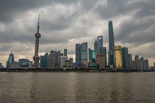 First stop in China: Shanghai! It pretty much poured the entire time we were there, but we caught a brief moment to actually see the skyline and grab a photo. Cool city and and a nice first impression. #whereveryouland
