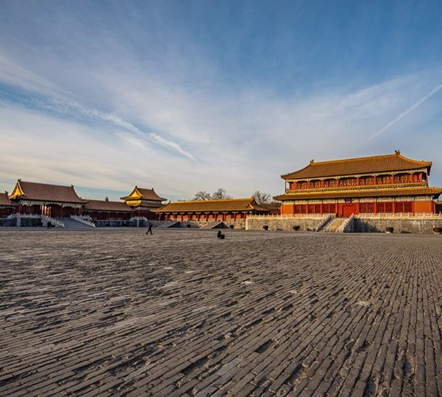 Walking the expansive grounds of the Forbidden City in Beijing. #whereveryouland