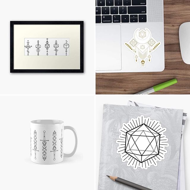 Hey guys! We have some new designs over on our Redbubble page! Link is in our bio! . . . #diceytales #merch #swag #bard #geek #nerd #graphictees #legendarygear #slicktee #newswag #esotericdesign #tribaldesign #tabletop #tabletopswag #supportsmallbusiness