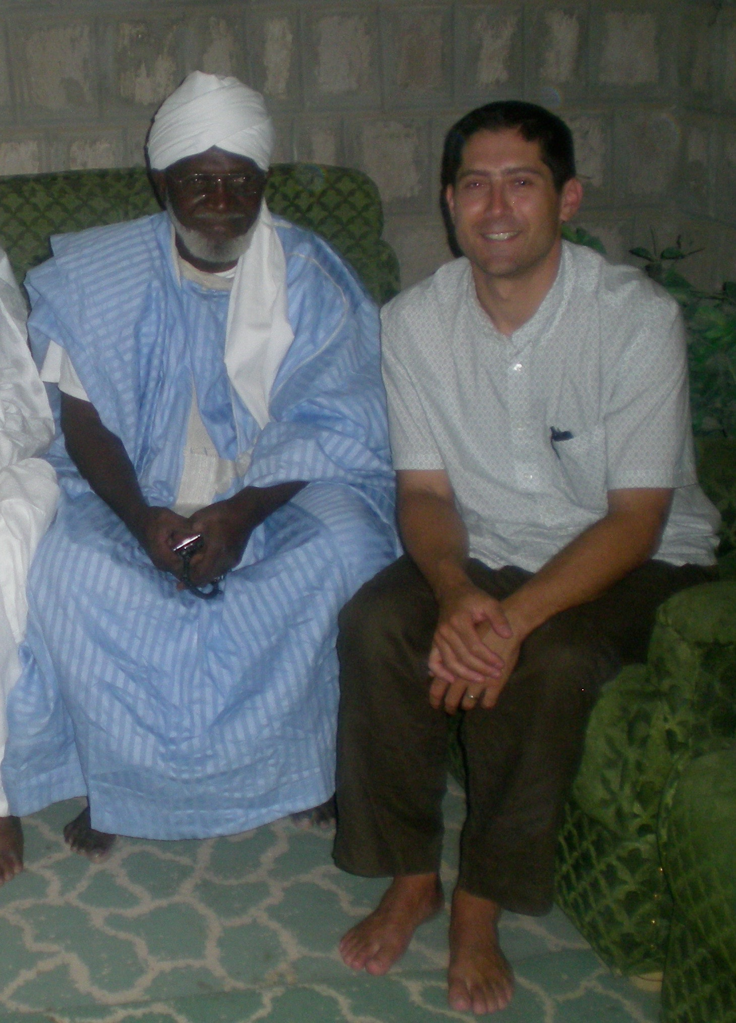 Todd with the Grand Imam of Timbuktu.
