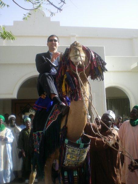 Todd at the palace of the Sultan of Sokoto, Sokoto, Nigeria.