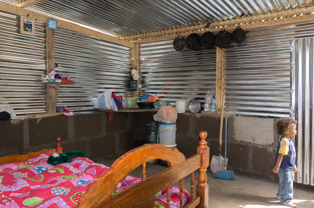 new home and bed for a family in Cristo Rey