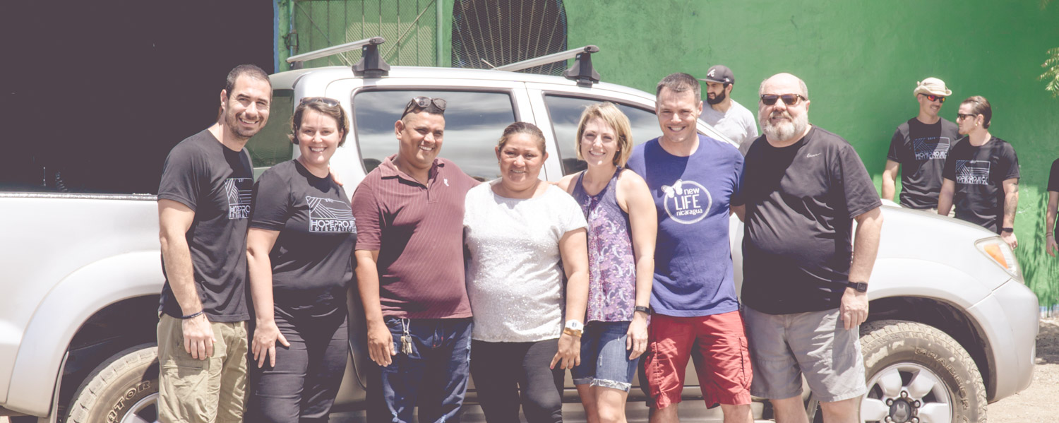 New truck presentation by Hope Project and New Life Nicaragua