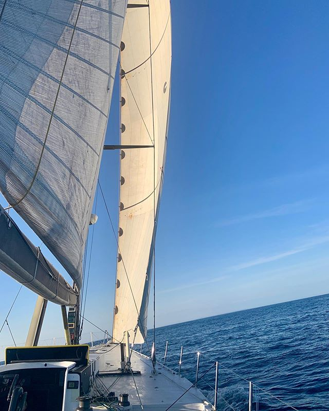 We were charging on the Cowes to Dinard-St Malo RORC race - 12.7.19 #krakensailing #volvoopen70