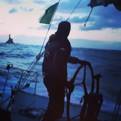 Rounding the Fastnet Rock @ 15 knots. 4.8.19 #rorc #rolexfastnetrace2019 #krakensailing #fearlessprojects