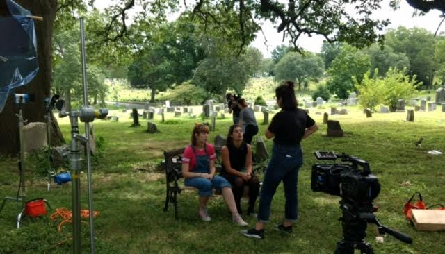 On set of the pilot episode of Ghost Girl