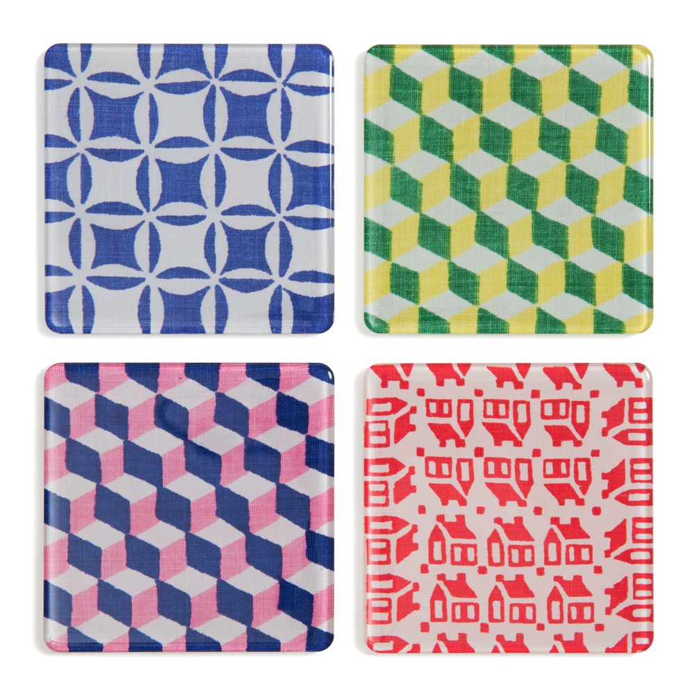 Grandma's Patchwork    Coasters/Magnets   Set of 4, 3¼ x3¼ in.