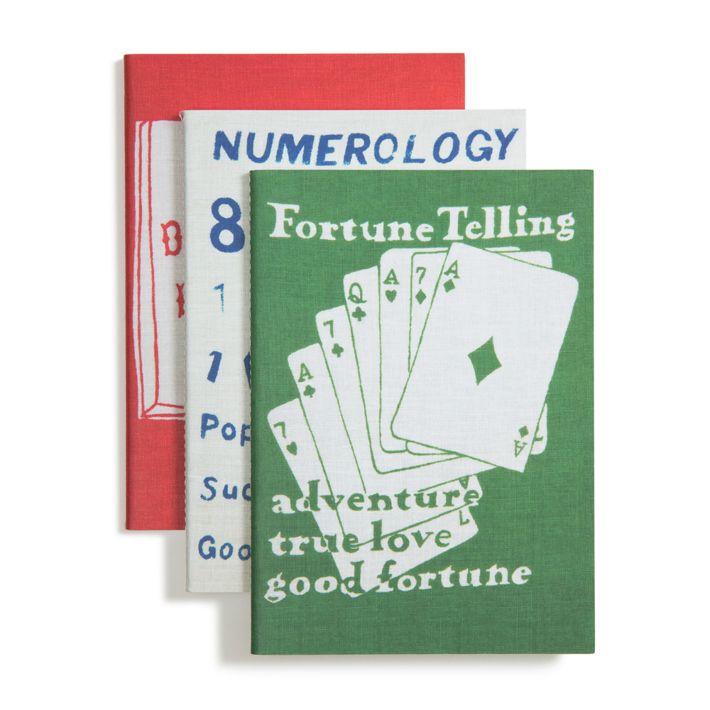 Fortune Telling  Notebooks   Set of 3, 40 pages each: one lined, one graph, one blank