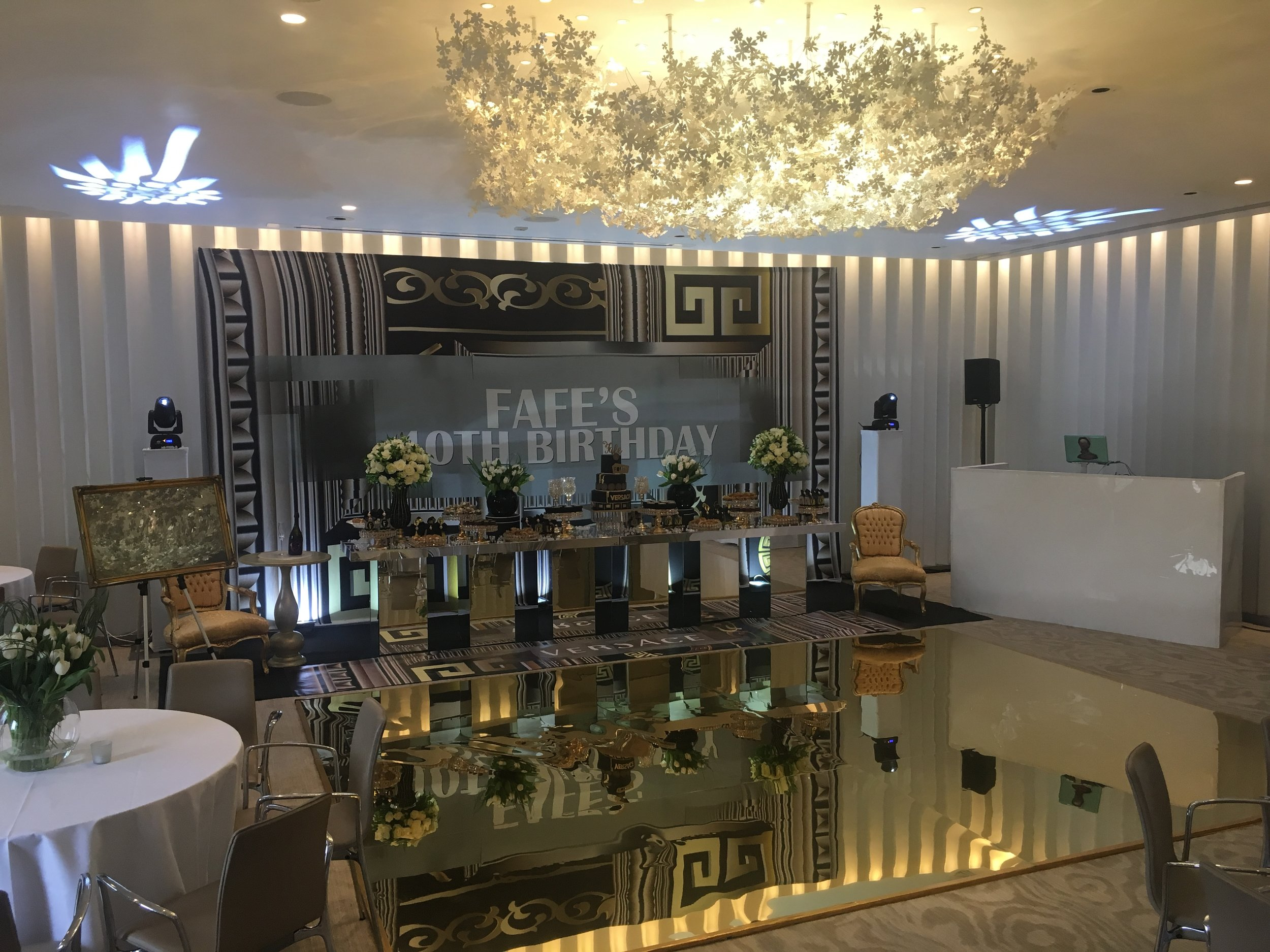 Gold Mirrored Dancefloor Coworth Venue.JPG