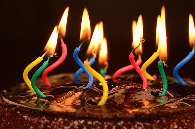 serial killer birthday cake candles chocolate share