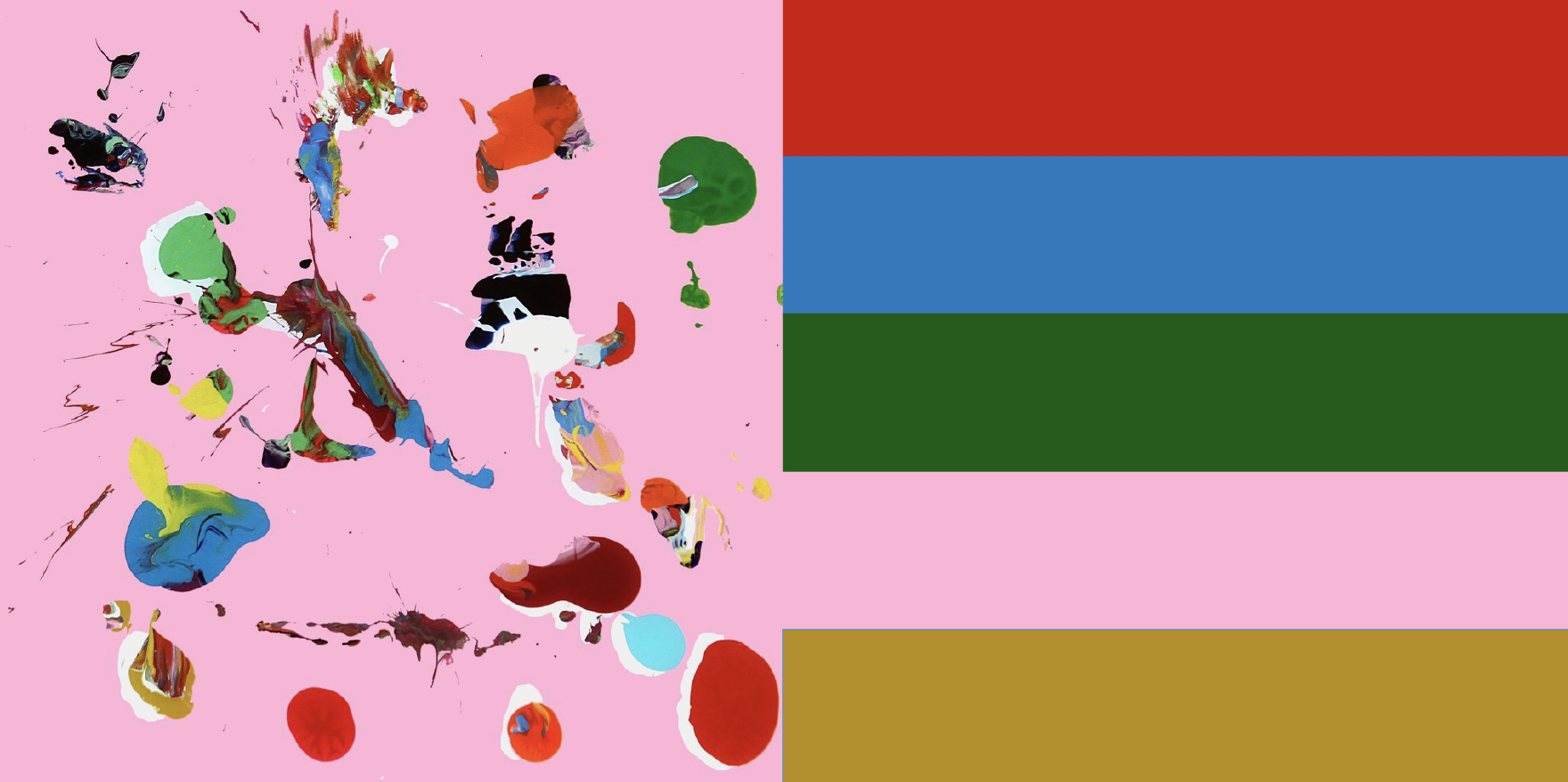 ATLAS (pink) by artist Santiago Picatoste inspired the colour palette