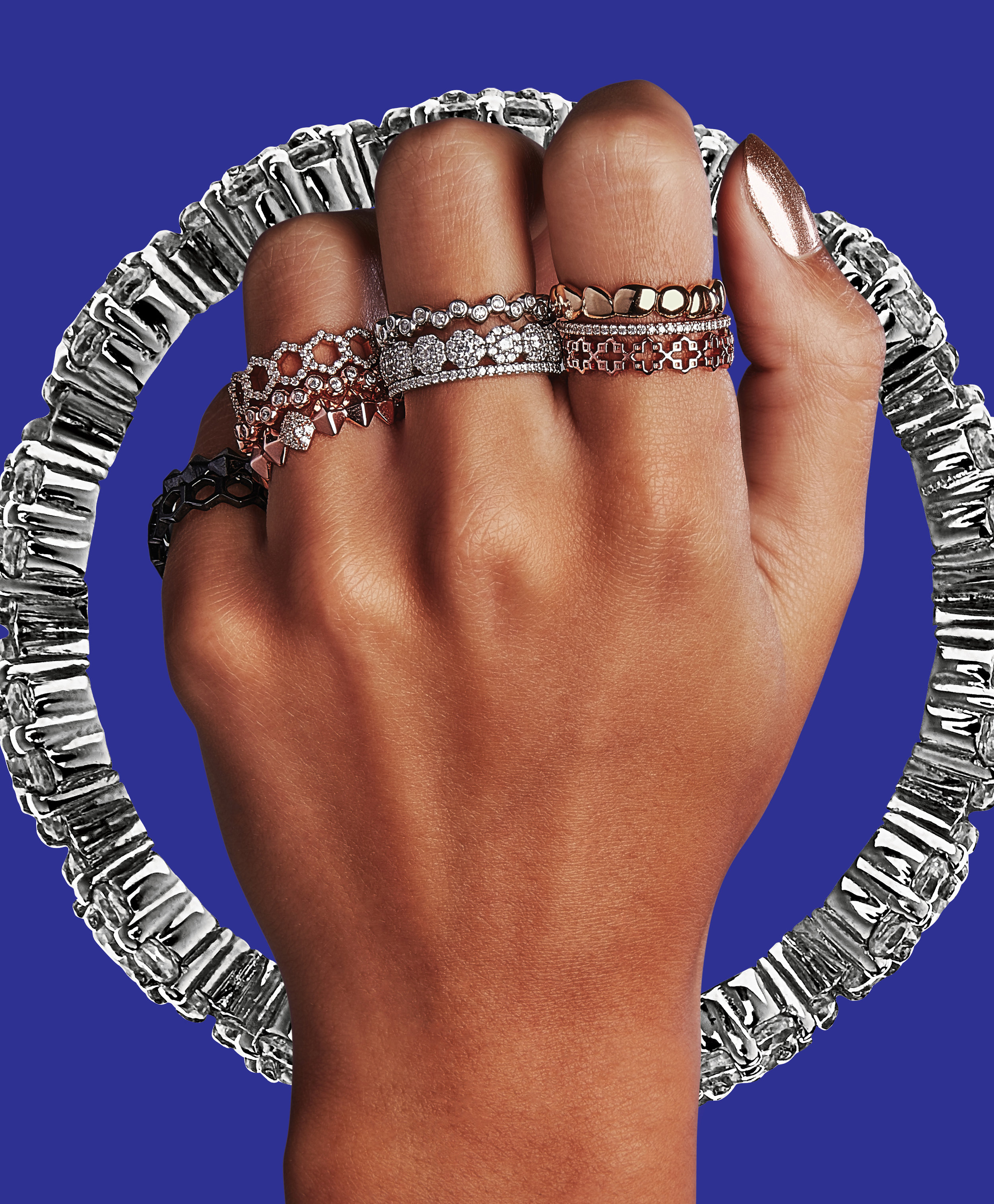 Birks Iconic Iconic Collection - Creative Director and Art Director Guillaume Briere (Montreal and Toronto) - Jewelry and hand photography in an collage style - Bold and Graphic Concept