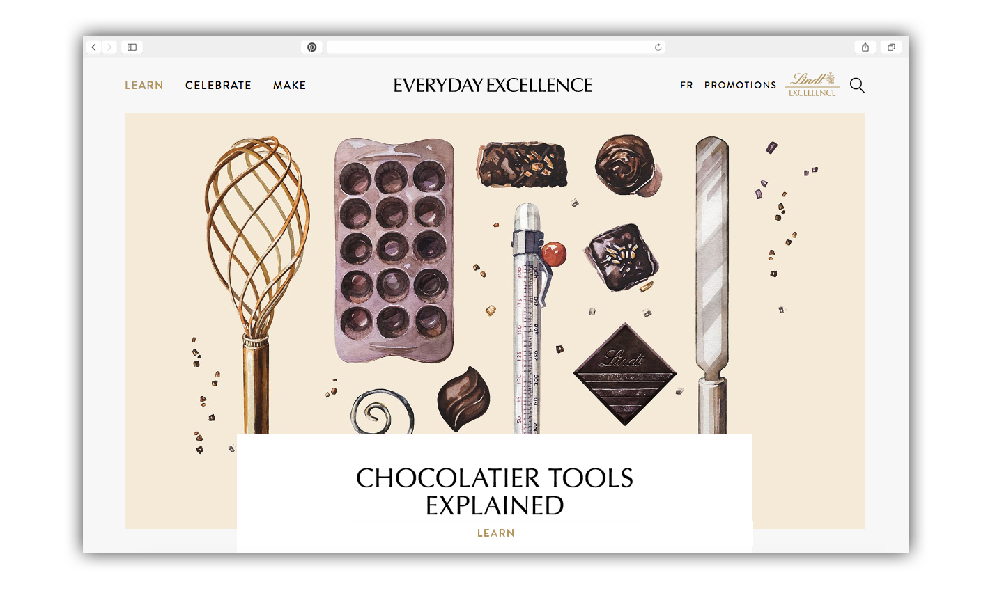 Branded Content program for Lindt Excellence, by Toronto/Montreal based Creative Director / Art Director Guillaume Brière