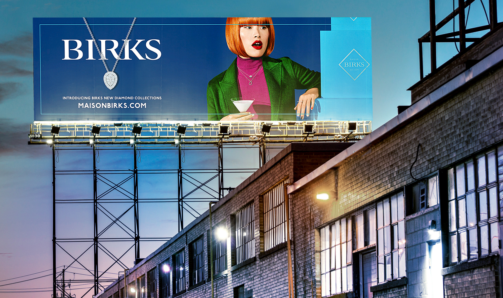 Billboard — Conceptual Integrated advertising campaign for jewellery brand Birks (Holiday 2018) by Guillaume Briere, a creative director specialized in luxury brands based in Montréal and Toronto.