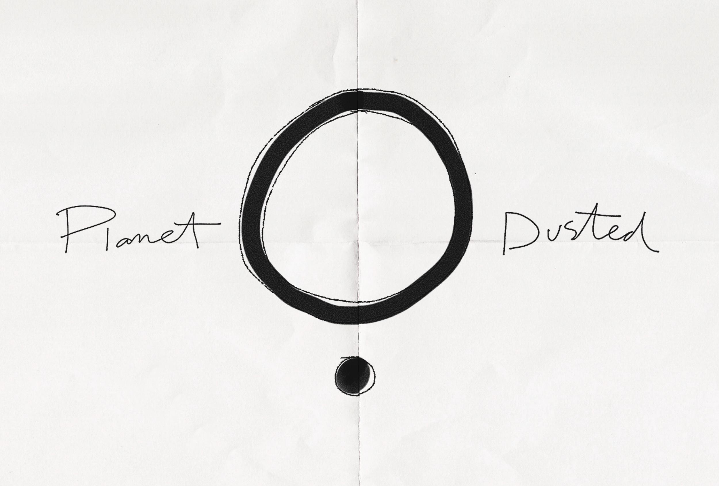 Dust of Gods logo concept sketch