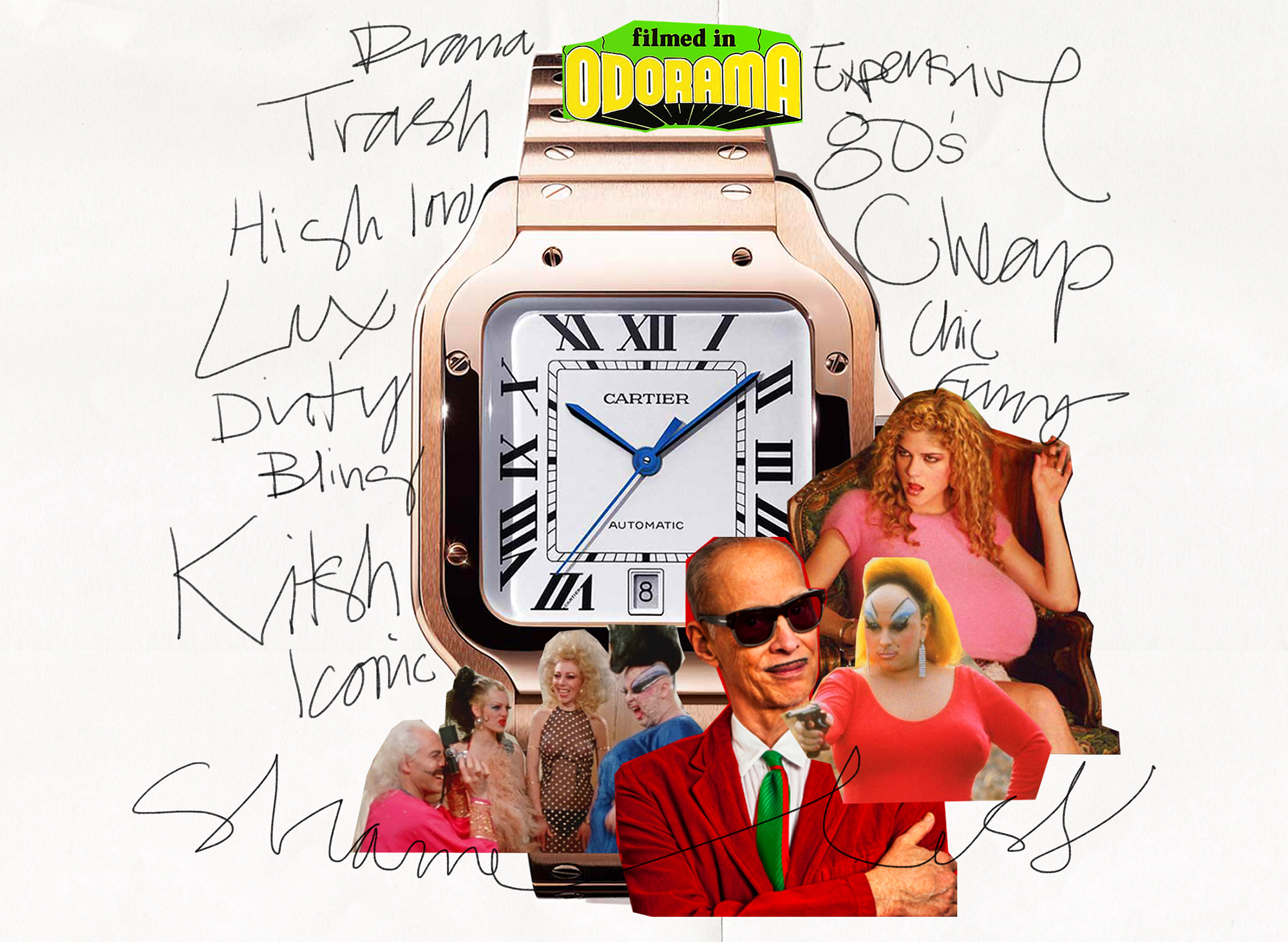 The concept for  Shameless:  John Waters' trash aesthetic meets high end jewelry