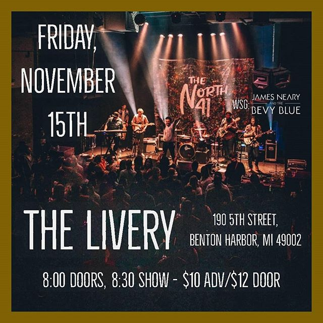 This show is going to be nuts - we're opening for @the_north_41 on November 15th at @liverybrew in Benton Harbor!  More details and tickets available at the link in the bio  #jnbb #thenorth41 #thelivery #bentonharbor #livemusic #funk #rock