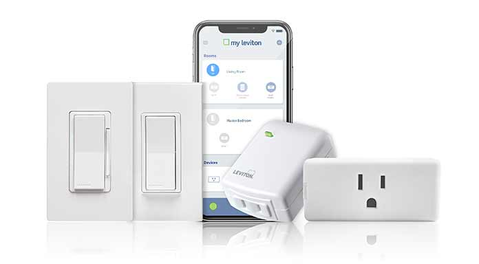 Leviton Family of Hubless Wifi Voice Control Compatible Devices