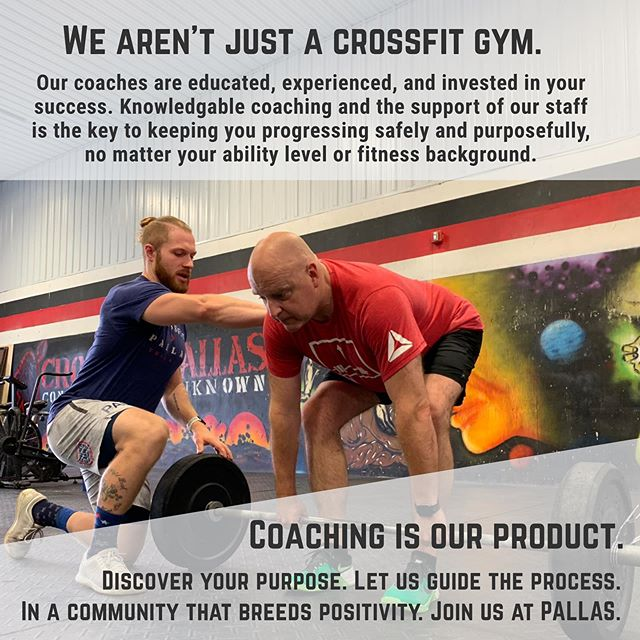 Discover your PURPOSE.⁣ Let us guide the PROCESS.⁣ In a community that breeds POSITIVITY.⁣ Join us at PALLAS.⁣⁣ ⁣⁣ #Pallas #CrossFitPallas #PallasFitness #Community #Coaching #Fitness #CrossFit #CrossFitKids #Yoga #Core #Pregnancy #Postpartum #WomensWellness #Functional #Health #Wellness #Gym #Ithaca #FLX